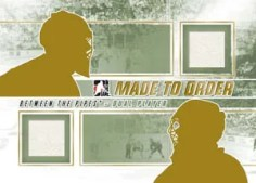 2010/11 ITG Between The Pipes Dual Made To Order Mystery Redemption Card