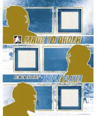 2010/11 ITG Between The Pipes Triple Made To Order Mystery Redemption Card