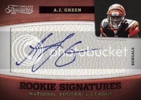 2011 Timeless Treasures AJ Green Autograph RC Card #/165