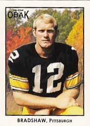 2011 TriStar Obak Terry Bradshaw Football Card