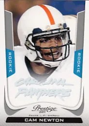 2011 Prestige Cam Newton Rookie RC Card