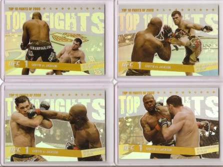 2009 Topps UFC Round 1 Top 10 Fights of 2008 Griffin vs Jackson Gold Card