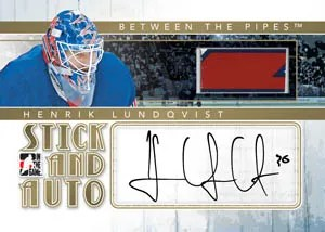 2010/11 ITG Between The Pipes Henrik Lundqvist Stick and Auto Card