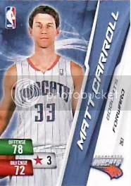 Matt Carroll Adrenalyn NBA Series 2 Card