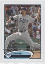 2012 Topps David Price Base Card S1