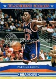 2012-13 Patrick Ewing Franchise Greats Insert Card