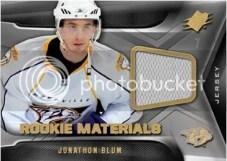 2011-12 SPx Rookie Materials Jonathon Blum