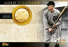 2012 Topps Series 2 Ty Cobb Gold Standard Relic