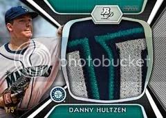 2012 Bowman Platinum Danny Hultzen Jumbo Patch