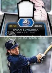 2012 Bowman Platinum Evan Longoria Die Cut Relic