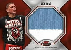 2012 Topps Finest UFC Nick Diaz Fight Mat Patch