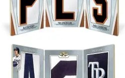 2012 Topps Triple Threads Evan Longoria Letter Number Logo Book