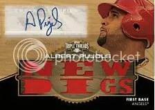 2012 Topps Triple Threads Albert Pujols Wood 1/1 Auto