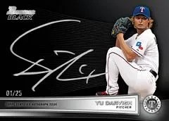2012 Bowman Chrome Yu Darvish Black Autograph