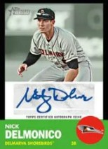 2012 Topps Heritage Minor League Nick Delmonico Auto