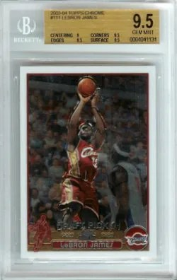 2003-04 Topps Chrome LeBron James RC #111 BGS 9.5