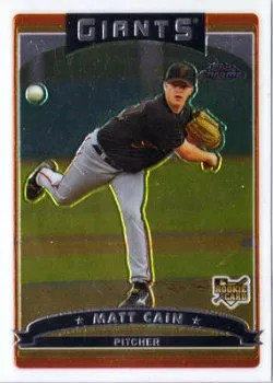 2006 Topps Chrome Baseball #304 Matt Cain RC