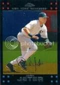 2007 Topps Chrome Derek Jeter Base Card #21