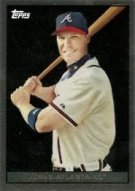 2008 Topps Chrome Chipper Jones Trading Card History Insert Card