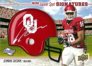 2010 Upper Deck Sweet Spot Signatures Jermaine Gresham Autograph Card