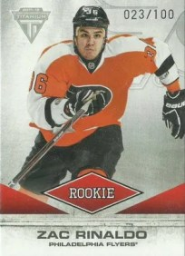 2011/12 Panini Titanium Draft Selection Gold Parallel #161 Zac Rinaldo #/100