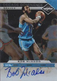 2011-12 Panini Limited Decade Dominance Bob McAdoo Autograph Card