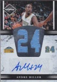 2011-12 Panini Limited Numbers Andre Miller Jersey Autograph