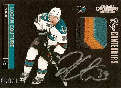 2011-12 Panini Playoff Cup Contenders Logan Couture Autograph Patch Card #/100