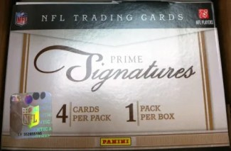 2011 Panini Prime Signatures Football Hobby Box