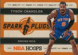 2012-13 Panini NBA Hoops Spark Plugs Tyson Chandler Insert Card