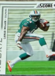 2012 Lamar Miller Score SP Photo Variation RC