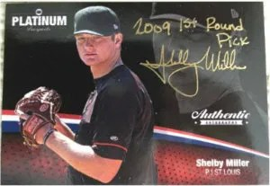 2012 Onyx Authentic Platinum Prospects Shelby Miller Autograph