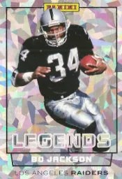 2012 Panini National Sports Collectors Convention Bo Jackson Legend Card Cracked Ice