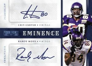 2012 Panini Prominence Eminence Combo Signatures Randy Moss - Chris Carter Autograph