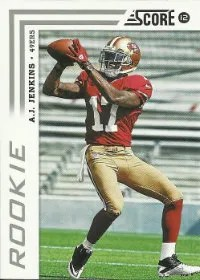 2012 Score A.J. Jenkins SP Photo Variation RC Card