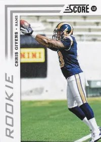 2012 Score Chris Givens Photo Variation RC Card