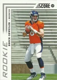 2012 Score Football Brock Osweiler RC Card