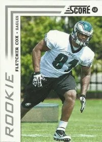 2012 Score Football Fletcher Cox Rookie Card