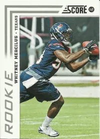 2012 Score Football Whitney Mercilus RC Card