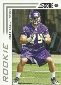 2012 Score Matt Kalil RC Card Photo Variation SP