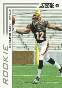 2012 Score Mohamed Sanu SP Variation RC Card