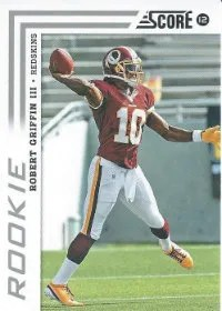 2012 Score Robert Griffin III Photo Variation SP RC