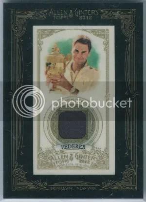 2012 Topps Allen & Ginter Framed Relic Roger Federer Card