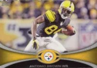 2012 Topps Antonio Brown Base Card #223