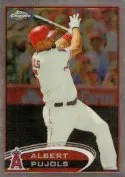 2012 Topps Chrome Albert Pujols SP Photo Variation Card