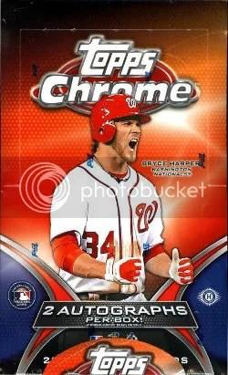 2012 Topps Chrome Baseball Box