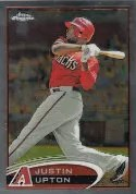 2012 Topps Chrome Justin Upton Base Card #10