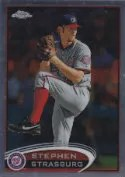 2012 Topps Chrome SP Photo Variation Stephen Strasburg
