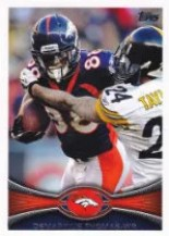 2012 Topps Demaryius Thomas SP Photo Variation Card