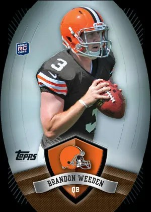 2012 Topps Game Time Giveaway Brandon Weeden Die-Cut Card